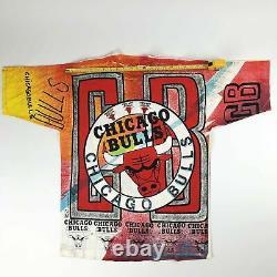 NWT VTG NBA Chicago Bulls All Over Print Magic Johnson T's Tee Adult Large