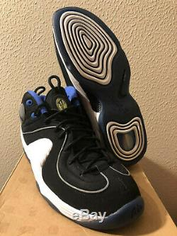 New DS 11 Nike Air Penny II 2 2008 Black Royal White Orlando Magic 1 Cent