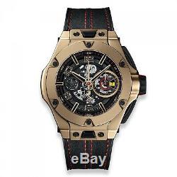 New Hublot Big Bang Ferrari Unico 18K Magic Gold Automatic Watch 402. MX. 0138. WR