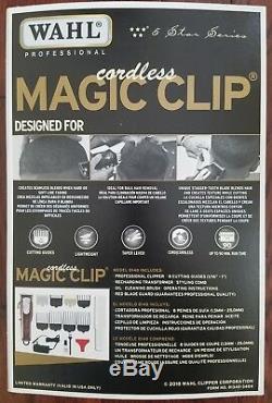New Wahl Cordless Magic Clip 8148 FADE Clipper 110-220 Volt 50/60 Hz withFREE Cape