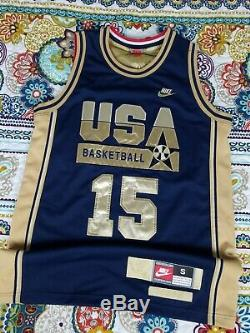 Nike 1992 Magic Johnson USA Dream Team Olympics Gold Basketball Jersey S Small