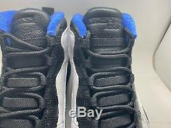 Nike Air Jordan 10 Retro White Royal Orlando Magic City Pack 310805-108 Size 11