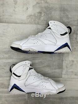 Nike Air Jordan 7 VII Retro DMP Orlando Magic White Black Blue Sz 9 304775-161