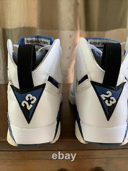 Nike Air Jordan Retro VII Orlando Magic Mens Sz 8.5 White Blue Black 304775-161