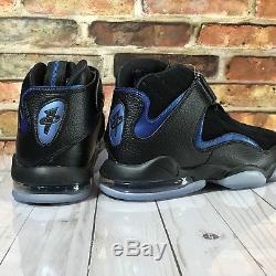 Nike Air Penny 4 Hardaway Orlando Magic Black Blue Men Basketball Shoes Size 9.5