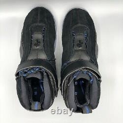 Nike Air Penny IV Black Atlantic Blue Hardaway 864018-001 size 10 Magic Jordan I