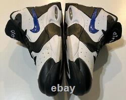 Nike Air Up Sz 11 Black Game Royal White Penny Orlando Magic Shoes 630929-004