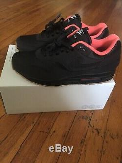 Nike air max 1 Custom iD Size 10 Black/gum/magic Ember