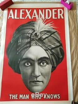 ORIGINAL 1920 Alexander The Man Who Knows Lithograph poster