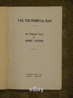 ORIGINAL Houdini Yar, The Primeval Man 1921 film treatment