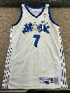 Orlando Magic Dee Brown Game Worn Jersey Champion Used Stars White Basketbal VTG