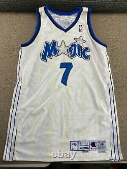 Orlando Magic Dee Brown Game Worn Jersey Champion Used Stars White Basketbal VTG