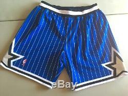 Orlando Magic Shorts Authentic Mitchell and Ness XL NBA Vintage Shaq Penny