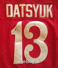Pavel Datsyuk Magic Man Detroit Red Wings Signed Jersey Red Jsa/coa J37614
