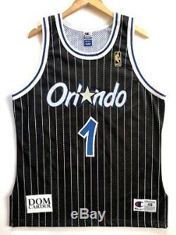 Penny Hardaway 1996-97 Orlando Magic Authentic Champion Jersey (Black) 48 (L)