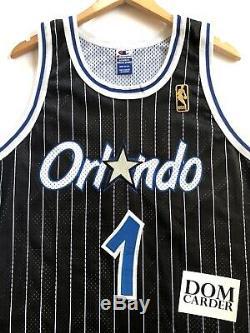 Penny Hardaway 1996-97 Orlando Magic Authentic Champion Jersey (Black) 48 (XL)