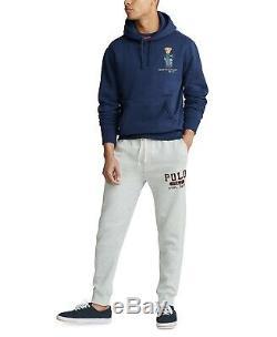 Polo Ralph Lauren Men's Cruise Navy Polo Bear Magic Fleece Knit Pullover Hoodie