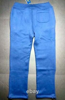 Polo Ralph Lauren Men's Medium Navy Embroidered Logo Magic Fleece Athletic Pants