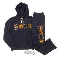 Polo Ralph Lauren Men's Navy Embroidered Logo Magic Fleece Hoodie & Pant Set