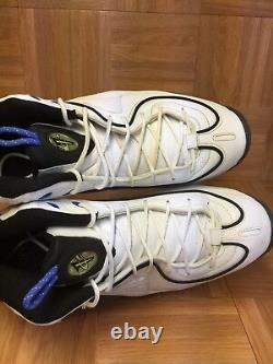RARE Nike Air Penny 2 White Varsity Royal Black Sz 12 333886-141 2008 Magic