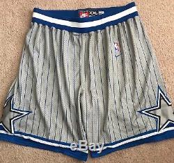 RARE Nike NBA Orlando Magic Pinstripe Basketball Shorts Rewind 1995 Sz XXL Men's