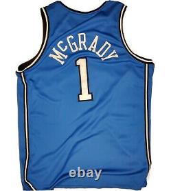 RARE Tracy McGrady 1 Blue Orlando Magic Authentic NBA Jersey Men's size 48