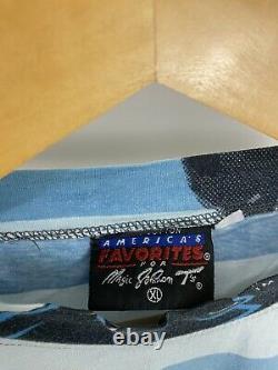 RARE VTG Magic Johnson T's Carolina Panthers NFL All Over Print Single Stitch XL