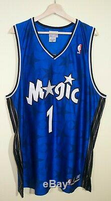 RARE VTG Tracy McGrady Tmac Orlando Magic Stars Authentic Reebok Jersey 48 NBA