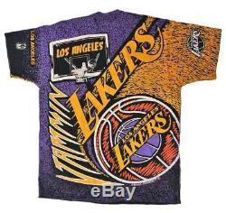 RARE Vintage 80's Magic Johnson T's Lakers NBA T Shirt Men's XL