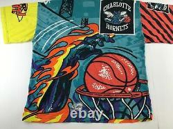 RARE Vintage Charlotte Hornets NBA Men XL Magic Johnson T Shirt Power Slam USA