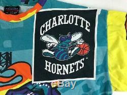 RARE Vintage Charlotte Hornets NBA Men XL Magic Johnson T Shirt Power Slam USA J