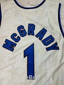 RARE Vtg Reebok Authentic Orlando Magic Tracy Mcgrady Jersey Mens 52 2XL Stars