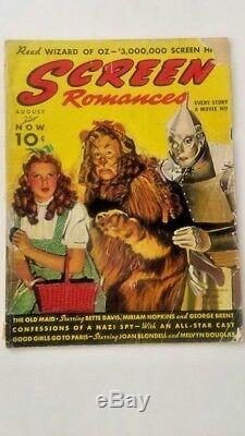 Rare 1939 Wizard Of Oz Screen Romances Magazine Dorothy Cowardly Lion Tin Man