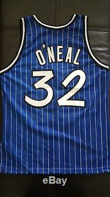 Rare Genuine 90's Shaquille O'Neal Orlando Magic Authentic Champion Jersey 44 M