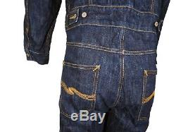Rare Nudie Jeans Men's Blue Roger in Magic Loom Overall Size M