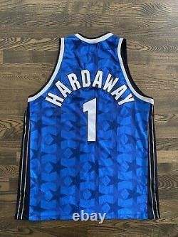 Rare PENNY HARDAWAY #1 Orlando Magic Authentic Champion Jersey Stars 48 XL