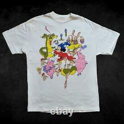 Rare VTG 90s Mickey Mouse Fantasia T-Shirt Magician Epcot Magic Kingdom Sz Large