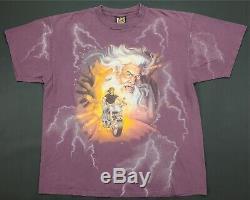 Rare Vintage 3D EMBLEM Wizard Motorcycle 1998 Sturgis Black Hills T Shirt 90s XL