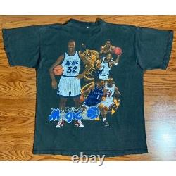 Rare Vintage Rap Tee Orlando Magic Penny Hardaway Shaq Michael Jordan T-shirt