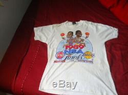 Rare Vtg Screen Stars 1989 Magic Johnson / Detroit Pistons Isiah Thomas Large