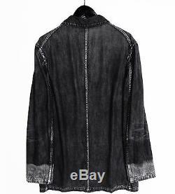 Rare Yohji Yamamoto Y's for men Magic Washed Boxy Denim Coat/Jacket Black VTG