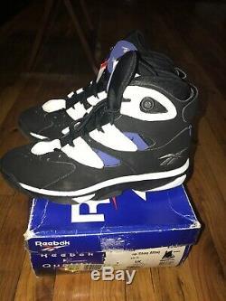 Reebok 1996 SHAQ ATTAQ IV 4 ATTACK OG Shoes INSTA PUMP Magic Men's Size 10 VNDS