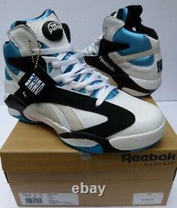 Reebok Pump Shaq Attaq og Size 10.5 Retro Black/White/Teal Orlando Magic V47915