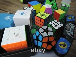 Rubik's Cube Variety Collection Gan, Qiyi, X-man, 3x3, 4x4, 5x5, Pyraminx + more