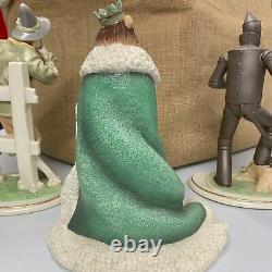 SEE PICS Lenox Wizard of Oz Cowardly Lion, Scarecrow, Tin Man Figurine Statue