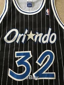 Shaquille O'Neal Orlando Magic Champion Jersey NBA Mens 48 Sewn Pinstripe Shaq
