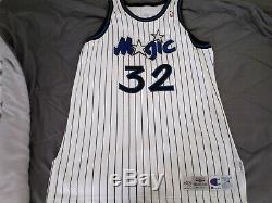 Shaquille Oneal Authentic Orlando Magic Champion Jersey SZ 54 + 4 Pro Cut Signed