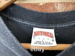 Shaquille Oneal Mens Nutmeg Mills Rap T-Shirt Black Orlando Magic Vintage 90s L