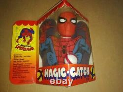 Spiderman Magic Catch 1977 Toy Marvel Figure Ironman Hulk Thor Spider Man Mego