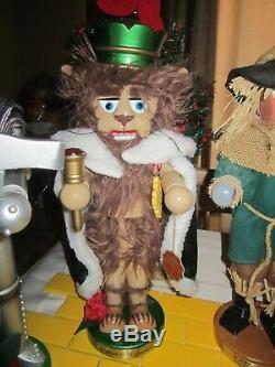 Steinbach Nutcracker Dorothy Tin Man Lion Scarecrow from the Wizard of Oz Series